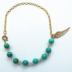 Natural turquoise, candy color gemstone bracelet with 24 K gold plated wing charm, multi-color available, FREE shipping #christmas #xmas #halloween #highquality #affordable #freeshipping #bead #beads #gem #gems #gemstone #gemstones #jewelry #jewellery #jewelrymaking #jewelrysupplies #jewelrysupply #etsy #farragem #design #designer #handcrafted #handmade #ring #necklace #earrings #bracelet #pendant 24k Gold Jewelry, Jewellery, Unique Jewelry, Ring Necklace, Beaded Necklace, Earrings, Gemstone Bracelets, Candy Colors, Xmas