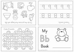 Phonics Letter of the Week Bb {FREE}. A HUGE unit pages) with all that you need for a letter of the week curriculum. A page from the unit: Letter activity booklet Teaching Letters, Preschool Letters, Preschool Printables, Preschool Worksheets, Alphabet Activities, Literacy Activities, Teaching Resources, Kindergarten Language Arts, Kindergarten Literacy