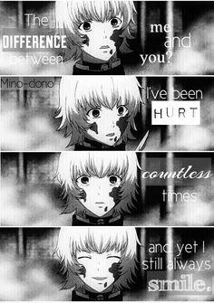 Juuzou Suzuya - Tokyo Ghoul ~I consider him to be a victim~ - - - - - ✂ - - - - - - - such feels! Juuzou Tokyo Ghoul, Juuzou Suzuya, Sad Anime Quotes, Manga Quotes, Sad Quotes, Anime Boys, Anime Manga, Tokyo Ghoul Quotes, Anime Characters