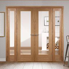 Easi-Frame Oak Door Set, GOSHAP10-COEOP1, 2005mm Height, 1910mm Wide. #oakshakerdoor #internaloakshakerdoor #easiframes
