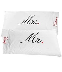 Personalized Mr. & Mrs. Pillowcases - Him:Amazon:Home & Kitchen