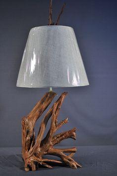 Custom Made Driftwood Table Lamp
