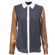 Introducing womens Point Down Collar Blouse in NAVY brought to you from best selling designer brand Armani Jeans. This statement blouse is a fresh new Ted Baker Jacket, Armani Women, Weekend Style, Collar Blouse, Armani Jeans, Jeans Brands, Winter Wardrobe, Preppy, Label