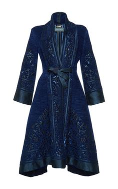 Jacquard Belted Jacket  | Alberta Ferretti's P/F17 Collection at Moda Operandi.