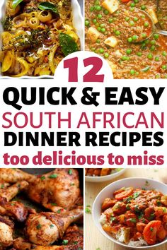 12 Easy South African Dinner recipes that make the perfect comfort foods. These traditional South African food dishes and side dishes are simply too. South African Dishes, South African Recipes, South African Desserts, Slow Cooker Recipes, Crockpot Recipes, Chicken Recipes, Oven Recipes, Cream Recipes, Grilling Recipes