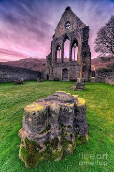 ✯ Valle Crucis Abbey is located near Llangollen, north Wales, UK. Nearby is the Pillar of Eliseg, a ninth century stone cross partly destroyed during the civil war. This ancient monument gives the abbey its name, which translated is the valley of the cross, founded in 1201