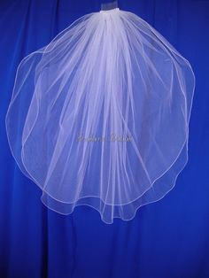 two layers white wedding veil