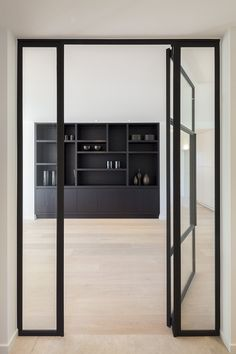 Steel and glass door