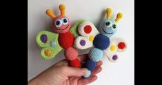 This Butterfly Baby Rattle Crochet Pattern makes a wonderful gift for your lovely newborn. The amigurumi toy develops baby's touch, hearing and fine motor skills. Crochet Baby Toys, Crochet Patterns Amigurumi, Cute Crochet, Crochet Dolls, Baby Knitting, Knitting Patterns, Crochet Butterfly, Butterfly Baby, Baby Rattle