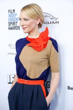 Cate Blanchett vestida de DelPozo en la presentación de los nominados a los Premios Spirit