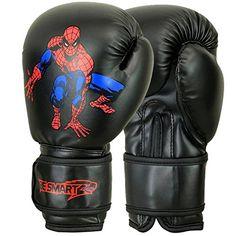 SUPER-HEROES Kids Boxing Gloves Junior Mitts 4oz, 6oz Pun…