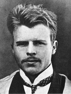 Hermann Rorschach, c. 1910. This Swiss psychiatrist developed the famous inkblot test that bears his name. We see two horses boxing each other, and one extremely hot Freudian