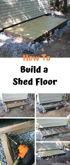 Learn how to frame and build a shed floor [step by step guide] Start building amazing sheds the easierway with a collection of shed plans! Shed Construction, Firewood Shed, Build Your Own Shed, Backyard Sheds, Outdoor Sheds, Garden Sheds, Outdoor Rooms, Building A Shed, Building Ideas