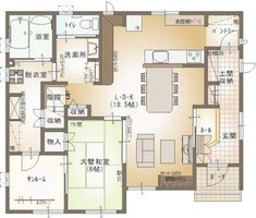 Plan_0065 Traditional Japanese House, Room Tiles, Small House Plans, Neutral Colors, Home Goods, Sweet Home, Floor Plans, Layout, Flooring