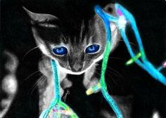 Neon Cat by Yankeestyle94