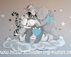 Muurschildering Winnie the Pooh – baby world Disney Babys, Baby Disney, Winnie The Pooh Nursery, Summer Coloring Pages, Baby Zimmer, Baby Nest, Baby Wall Art, Pooh Bear, Baby Room Decor
