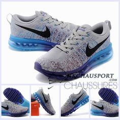 Nike Air Max 2014 | Meilleur Chaussures Running 02 Homme Grise/Bleu/Pourpre