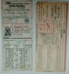 Você se lembra dos cartões perfurados da loteria esportiva!!??.