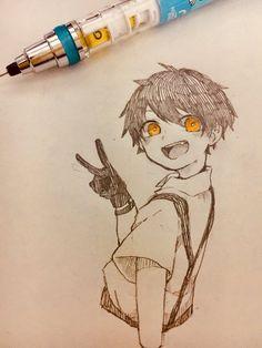 Art Drawings Sketches Simple, Cool Drawings, Anime Character Drawing, Character Art, Arte Sketchbook, Cartoon Art Styles, Anime Sketch, Anime Kawaii, Art Reference Poses