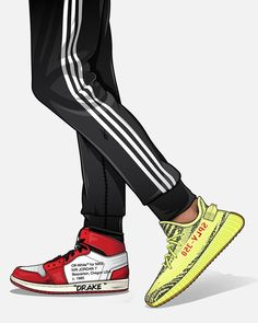 Which shoe is Drake gonna keep? Jordans or Adidas ? Sneakers Wallpaper, Shoes Wallpaper, Hype Wallpaper, Trippy Wallpaper, Drake Wallpapers, Streetwear, Hypebeast Wallpaper, Sneaker Art, Hype Shoes