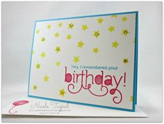 Hey, I Remembered Your Birthday! by nwt2772 - Cards and Paper Crafts at Splitcoaststampers