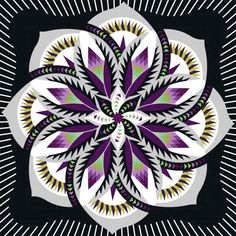 Check out this original color-way designed by Lisa S. Sign up on www.quiltster.com to create your own.