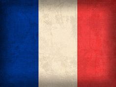 the tricolor flag of france. the national motto of france is liberté