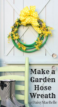 Love love love this idea.  How to Make a Wreath out of a Garden Hose