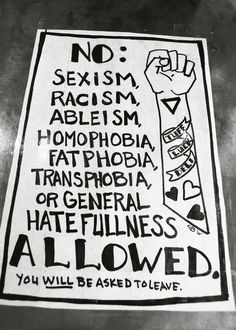 No General Hatefulness Allowed. Going on my front door someday.