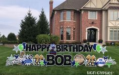 Birthday Yard Signs, Dad Birthday, Happy Grill, Funny Cards, Gender Reveal, Birthday Decorations, Holiday, Christmas, Birthdays