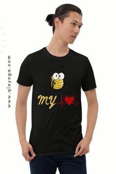 Be My Love Shirt, Bee My Love Shirt, Bee Shirt, Bee Tshirt, Insect Lovers, Short Sleeve Tee, Red Heart Beat Shirt, Beating Heart Cardiology Summer Outfits Men, Casual Outfits, Love Shirt, T Shirt, Men's Shirts And Tops, Cardiology, Heart Beat, Short Sleeve Tee, Bee
