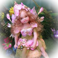 OOAK Child Fairy Sweet Pea Blossom by FantasyArtDolls on Etsy