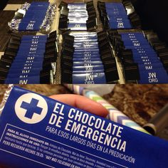 Great ideas for international Assambly and gifts for pioneers. JW. Rewrapped chocolate bars with aluminum paper and print out wrappers