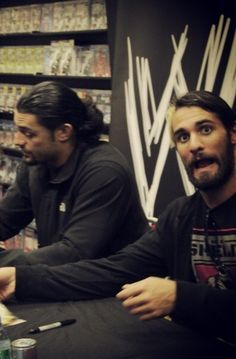 Seth Rollins and Roman Reigns lol to Seth's face XD
