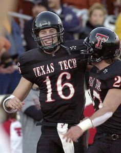 Kliff Kingsbury and Wes Welker at Texas Tech.