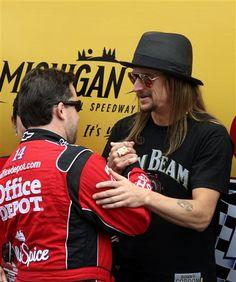 Tony Stewart & Kid Rock at the Michigan Speedway
