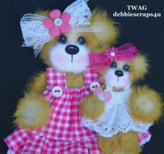 Twag Debbie Baby Girl Tear Bear Paper Piece Premade Scrapbook Pages Card Album | eBay