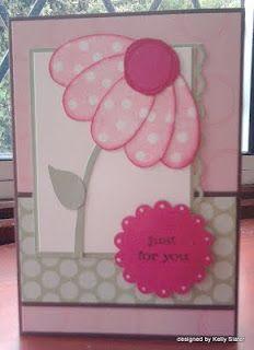 pick a petal - punch art Punch Art Cards, Handmade Card Making, Cricut, Kids Cards, Craft Cards, Baby Cards, Card Patterns, Scrapbook Cards, Scrapbooking
