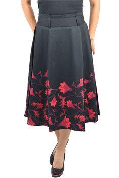 EVANS New Burgundy Red Elasticated Flare Textured Midi Panel Skirt Size 18-26