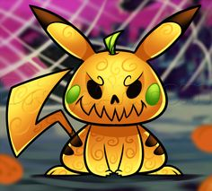 how to draw halloween pikachu