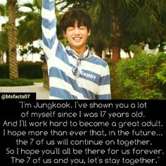 BTS Jungkook's letter to ARMYs from Bon Voyage ep. 8