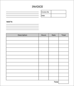 Simple Invoice Sample Invoice Template Easy To Use  Basic Invoice Template And General .