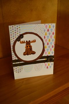 Moose Baby Card by NicolesPaperHearts on Etsy