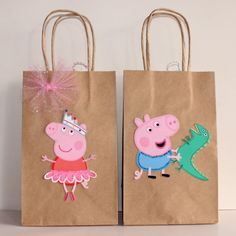 This item is unavailable – Peppa Pig Party Favor Bags by CelebrationGoods on E… Peppa E George, George Pig Party, Third Birthday, 3rd Birthday Parties, Cumple Peppa Pig, Peppa Pig Birthday Cake, Party Favor Bags, Craft, Peppa Pig Party Ideas