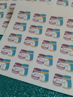 Peanut, peanut butter- and jelly! Adorable inspired stickers  for Erin Condren, Filofax, Plum Paper Planners and others by BeyondthePaperFlower on Etsy