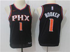 Phoenix Suns  1 Devin Booker Youth Black Swingman Jersey 0025923ad