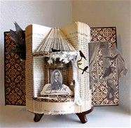 Edgar Allen Poe - repurposed books - Bing Images