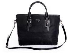 Designer Handbags Prada Nylon Fabric Tote Bag BN1826 Black . Noble Prada  Nylon Fabric Tote Bag BN1826 Black -  199.00 8da5c81af6b07