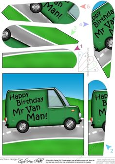 ec9ff9d8ee Happy Birthday White Van Man Fan Pyramage Topper