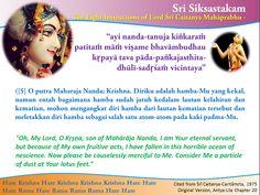Nitai Gaura Krishna Center Batam Kepulauan Riau Indonesia: Sri Siksastakam Bait 5